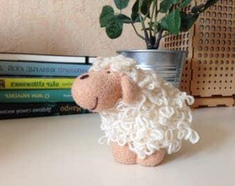 Needle Felted Sheep - Needle Felted Animal - OOAK Felted Toys - Felt Farm Animals - Felt Animal - Soft Sculpture - Felted Aminal - Sheep Toy