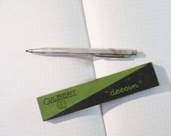 Mechanical pencil Criterium 2403 France Vintage Lead Holder with Integrated Sharpener and Eraser 1950-1970s
