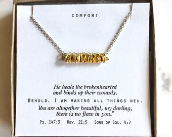 Stacked Coins layering neckace.  Book quote or custom quote.  Gift for her, encouragement gift, A A Milne, Proverbs 31:25, Serenity Prayer