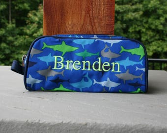 Boys Personalized Shark Pencil Case