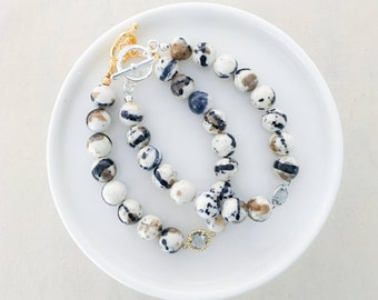 LIMITED EDITION - Neutral Beaded Bracelet in Smores   - Your Choice of Hardware - Summer Collection