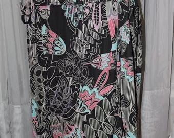Vintage 1990's New York & Company Floral Print Skirt