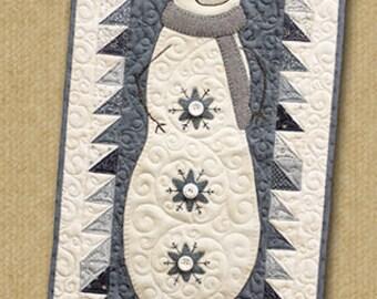 Primitive Quilt Pattern - Snowman Collector Appliqued Quilt Pattern