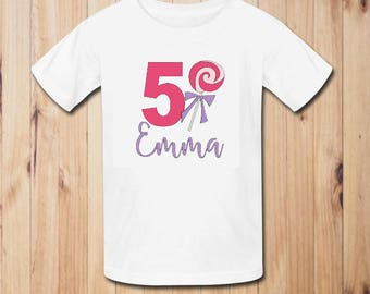Candy Land Birthday Party Shirt