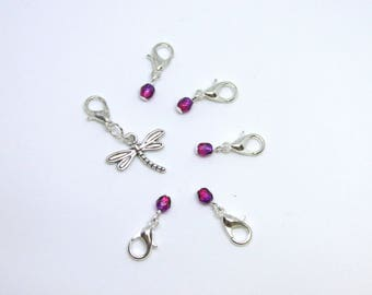 Dragonfly Stitch Markers, Crochet Stitch Markers, Removable Stitch Markers, Stitch Markers, Snagless Stitch Markers, Stitch Marker Set