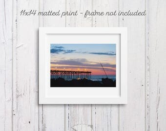 Sunrise Photography, Contrast Pier, gift for surfer, beach art, beach house decor, coastal cabin, walks on the beach, surf