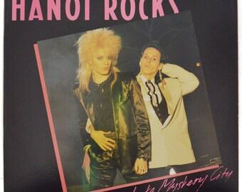 Vintage 80s Hanoi Rocks Back to Mystery City Glam Punk Album Record Vinyl LP