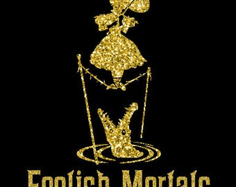 DIY FOOLISH MORTALS Haunted Mansion Tightrope Walker Girl with the Parasol Sparkly Baby Kids Adult Iron On Decal - Any Custom Glitter Color
