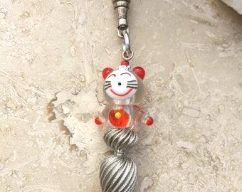 Zipper Pull - Happy Cat