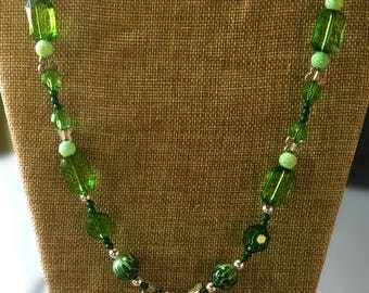 """Fairy, Faerie, Faery - """"Gorgeous in Green"""" - Necklace 24"""""""