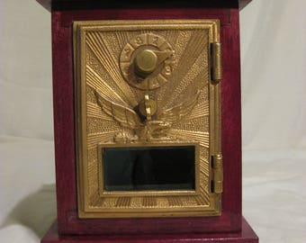 Bank made from an antique Post Office door