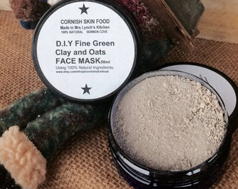 D.I.Y Fine Green Clay and Oats Face Mask