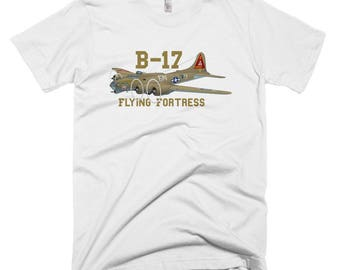 Boeing B-17 Flying Fortress Custom Airplane T-shirt - Personalized
