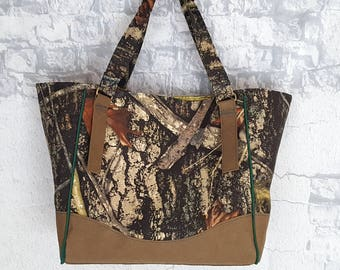 Ready to Ship True Timber and Paper Handbag Tote - Kraft Tex Handbag - Vegan Leather Charlotte Tote - Swoon Handbag - Valentines Day Gift