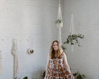 Prairie Ruffle Dress - vintage cotton S/M and M/L