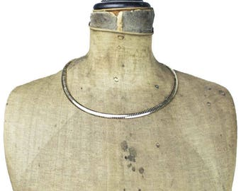Vintage Thin Gold Collar Necklace,  Thin Gold Necklace, Gold Cleopatra Collar Necklace, Thin Gold Collar