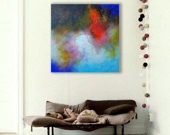 ABSTRACT PAINTING / abstract art / wall art / original painting / acrylic painting / painting / large painting / modern art / Ready to hang