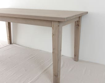French Farmhouse Desk  //  Gray Wood Table //  Reclaimed Wood Table // Shabby Chic Table //  Vintage