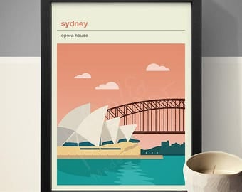 Sydney - Opera House Poster, Art Print, City Poster, Travel Poster, Travel Print