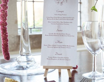Burgundy Mistletoe Wedding Menu