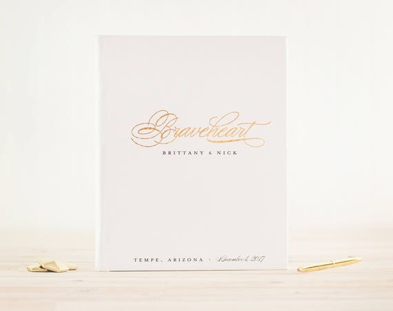 Lay Flat Wedding Guest Book with Real Gold Foil Wedding Guestbook Wedding Photo Book Photo Booth Book Guest Sign in Book Wedding Photo Album