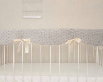 Minky Crib Rail Guard Cover - Your Choice of Colors