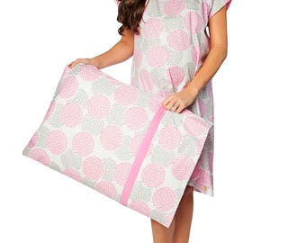 Lilly Maternity Labor Delivery Hospital Gown Gownie & Pillowcase Set, Hospital Bag Must Have, Perfect Baby Shower Gift