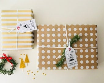 Christmas Tags Tree and Santa