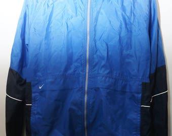 "Rare 90's Vintage ""NIKE"" Colorblocked Windbreaker Jacket Sz: LARGE (Men's Exclusive)"