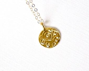 Gold Evil Eye Medallion Necklace, Gold Evil Eye Coin Necklace, Silver Evil Eye Necklace, Wedding Jewelry, Modern, Dainty, Everyday