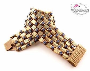 English pattern for the Night Shimmer bracelet