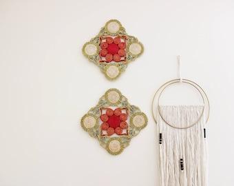 Vintage Trivets Set of Two of Trivets Boho Home Decor
