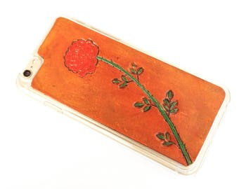 Leather iPhone X Case | Rose