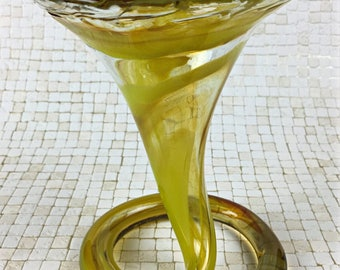 Murano Hand-Blown Stretched Glass Vase