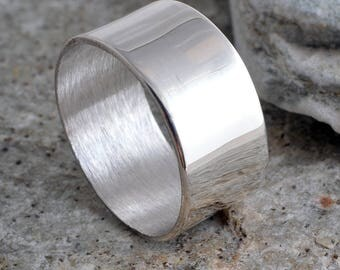 Silver band ring sterling silver plain 8mm band ring handmade choose your size custom made 925