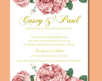 Wedding Party invitation Casey