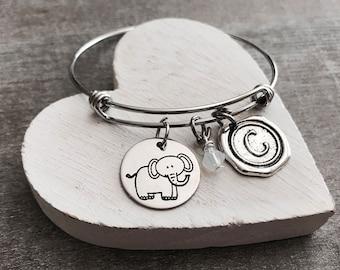 Effie the elephant, elephant, elephant Bracelet, elephant Jewelry, Silver elephant, Gift, Silver Bracelet, Charm Bracelet, Silver Jewelry