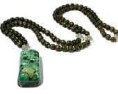 Black Tourmaline Orgone Mala Necklace - 'Sacred Intentions' - Africa - 108 Prayer Beads - Spiritual Gift - Mantra Meditation -Medium