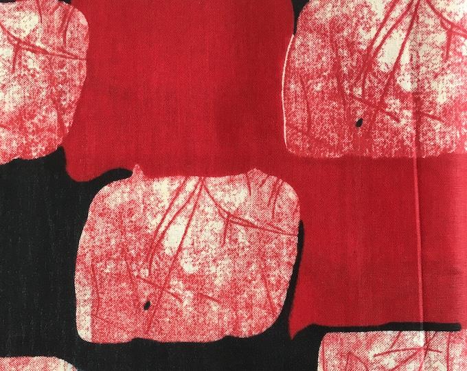 African Dutch Wax- Red Block Print