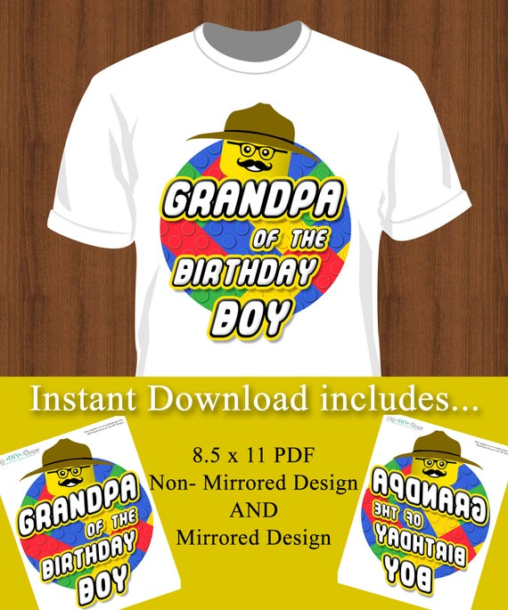 Diy Do It Yourself Iron On T Shirt Design Grandpa Of
