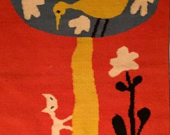 Extremely rare Evelyn Ackerman tapestry