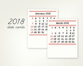 2018 ONLY date cards, refill for the DIY Paper Typewriter Calendars (for old buyers of the typewriter calendars last year)