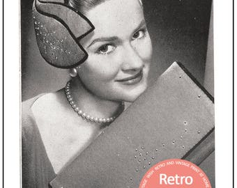 1950's  Hat Pattern - PDF Pattern - Instant Download