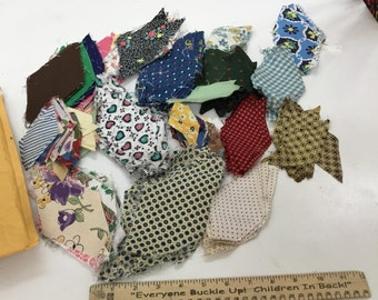 Huge Lot Feedsack and Vintage Diamond  Quilt Pieces