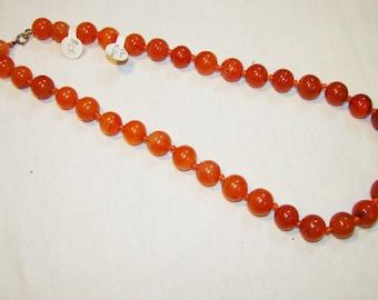A-18 Carnelian beaded Necklace