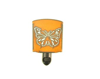 Butterfly Rusty Metal Night Light