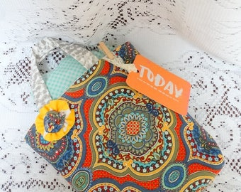 Colorful Fabric Gift Bag, Gift Wrap, Gifts, Birthday Wrap, Free USA Shipping