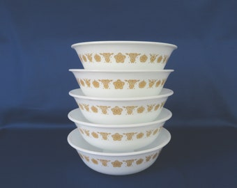 Corelle Butterfly Gold Cereal Bowls