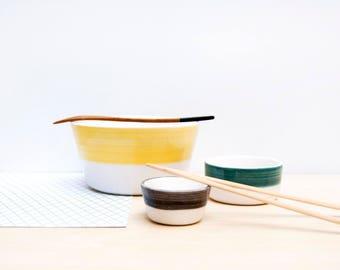 Ceramic bowls set, Ceramic nesting bowls, Ceramics & Pottery, Sushi serving plates, Pottery bowls, Ceramic serving bowls, Ceramic tableware