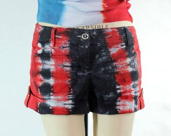 Tie Dye Upcycled Juniors Shorts